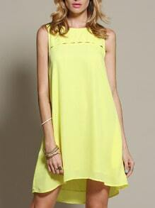 Yellow Lemon Sleeveless Casual Dress