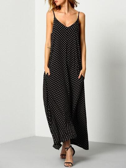Printed Backless Maxi Cami Dress