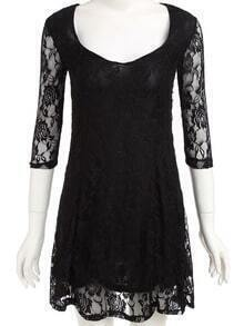 Lacy V Neck Lace Dress