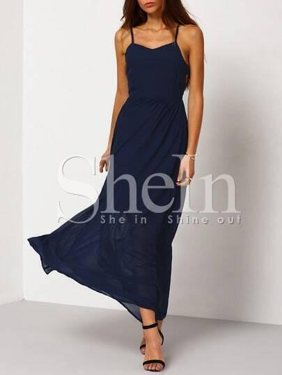 Navy Spaghetti Strap Perfect Maxi Dress