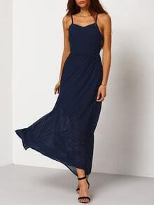 Navy Spaghetti Strap Perfect Maxi Dress
