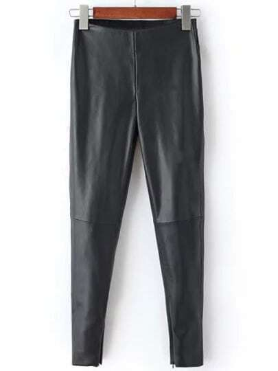 Black High Waist Slim Pant