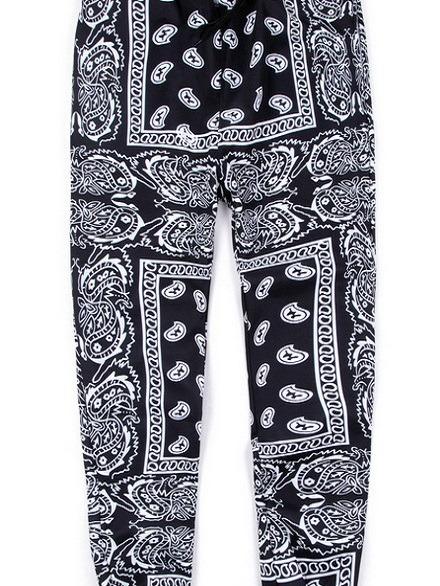 Custom printing AliExpress ebay hip-hop style men's casual pants trousers cashew flower bundle pants men joggers