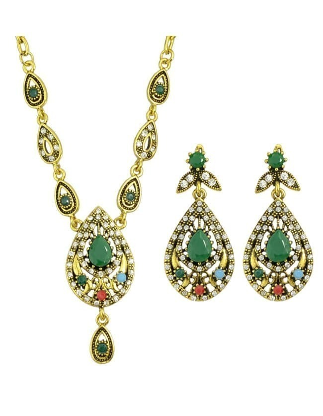 Colorful Rhinestone Jewelry Set
