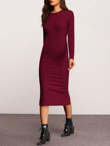 Split Back Sheath Dress