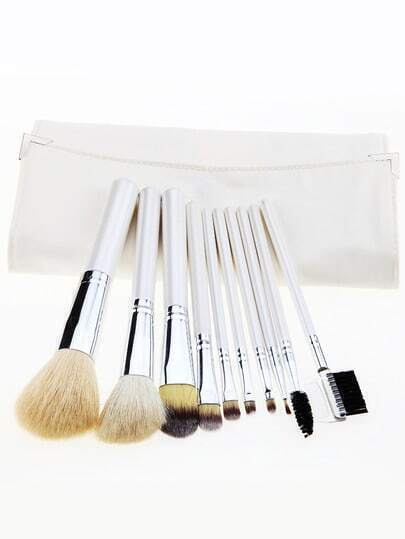 10pcs White Makeup Brush Set