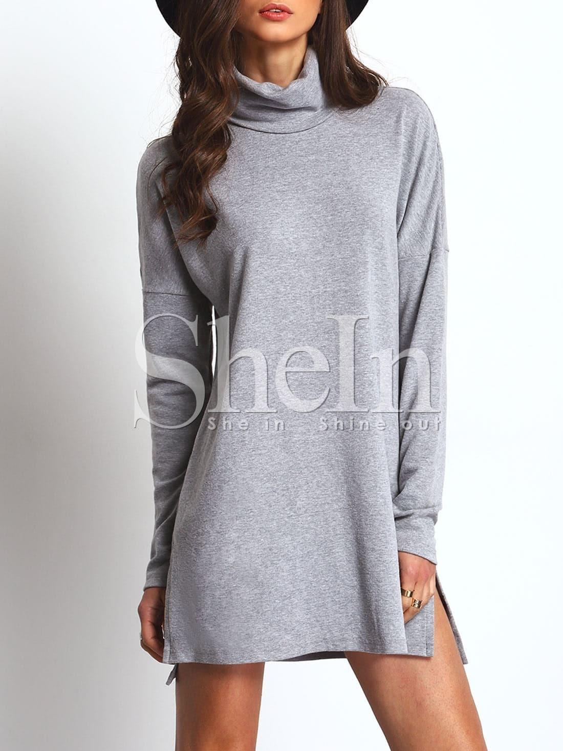 Фото High Neck Side Slit Dress. Купить с доставкой