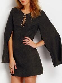Vestido manga corta -negro