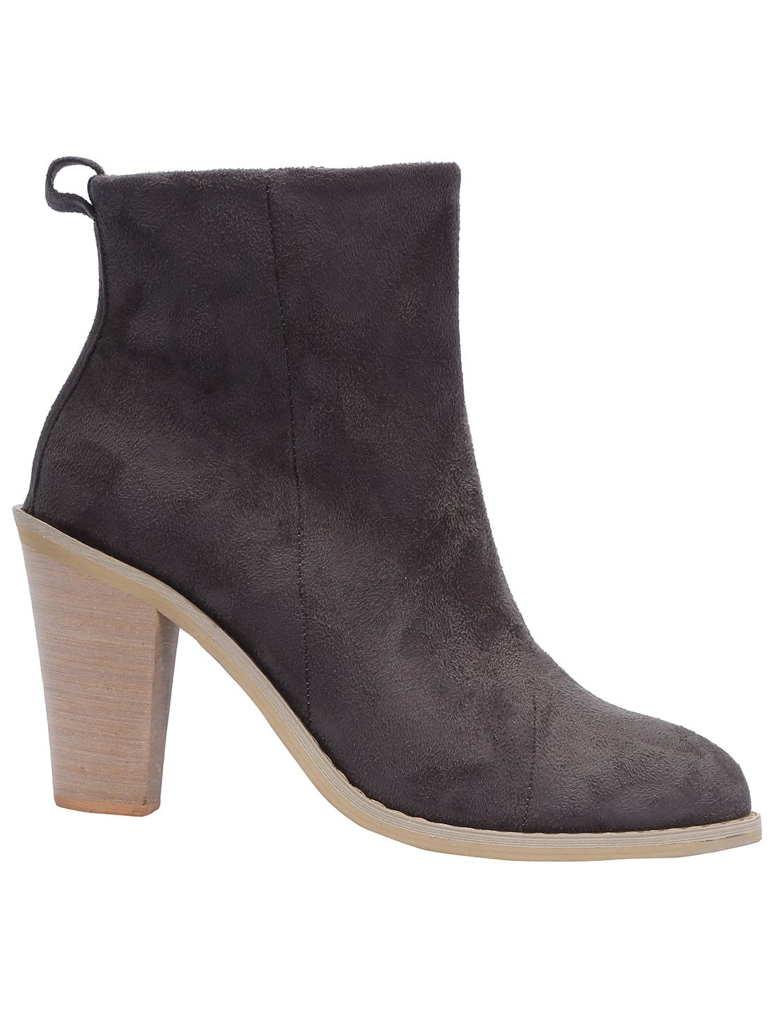 grey pointy high heeled boots shein sheinside