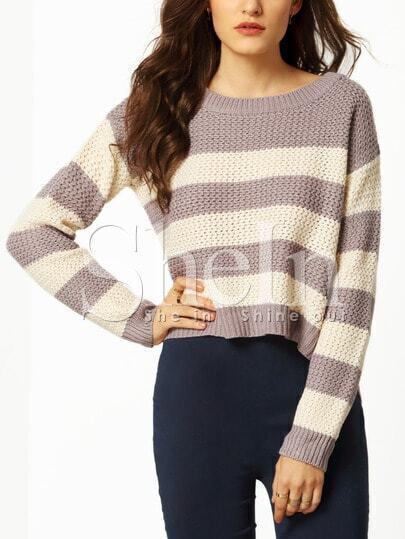 Jersey manga larga color combinado -multicolor