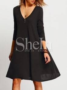 V-Cut Tshrit Dress In Jersey