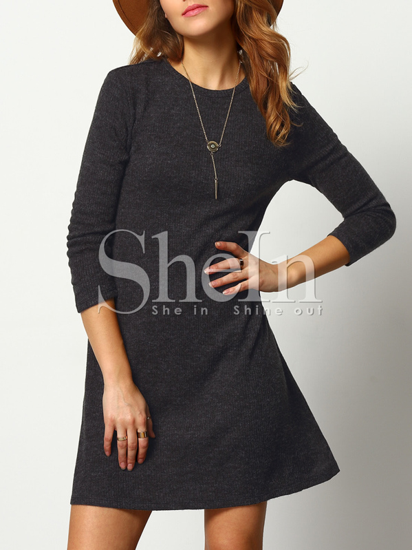 Marled Knit Swing Dress, Evelina