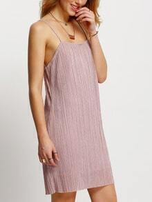 Pink Spaghetti Strap Sheath Dress