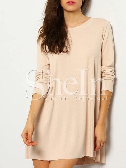 Pink Long Sleeve Backless T-Shirt