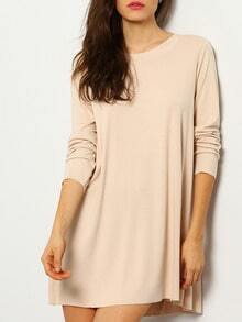 Pink Long Sleeve Backless T-Shirt