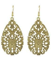 Gold Hollow Out Drop Earring