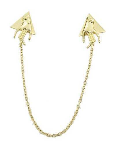 Gold Hand Collar Tips