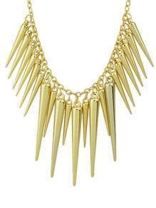 Gold Spike Pendant Necklaces