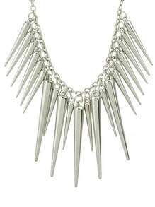 Silver Spike Pendant Necklaces