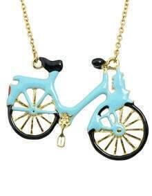 Blue Bicycle Choker Necklace