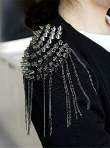 Punk Tassel Shoulder Brooches