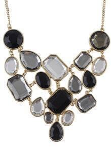 Multi Gemstone Gold Splice Necklace