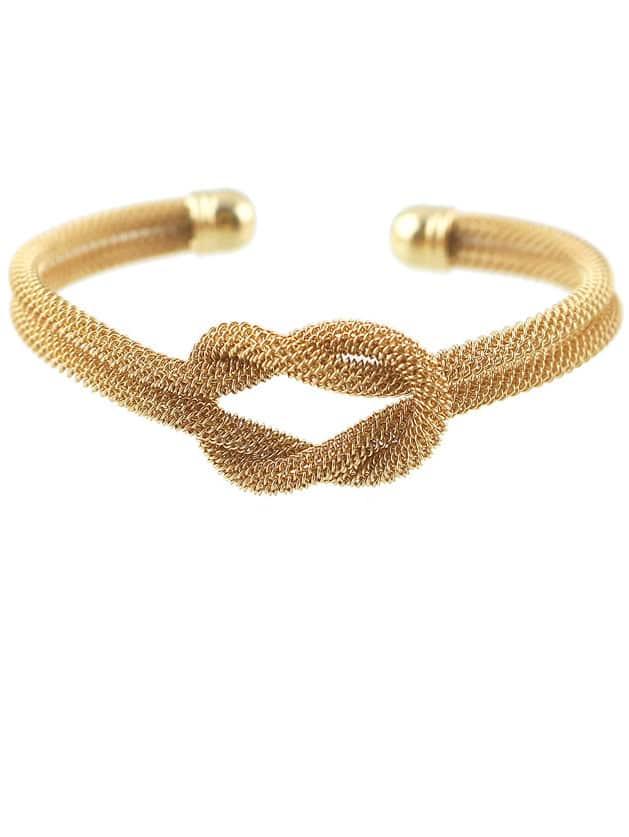 Фото Gold Double Twine Bracelet. Купить с доставкой