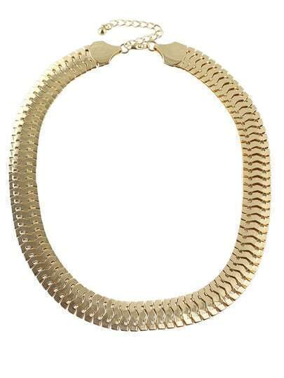 Gold Steampuck Chain Necklace
