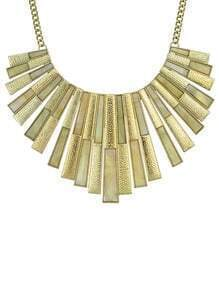 Gold Bars Splice Necklace