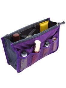 Purple Cosmetic Storage Mesh Nylon Bag