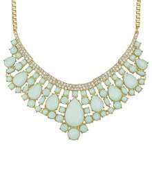 Green Gemstone Gold Collar Necklace