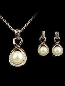Pearl Diamond Necklace With Earrings