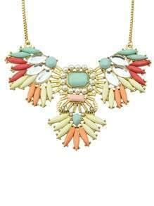 Multi Gemstone Bead Chain Necklace