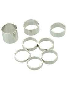Silver Punk Multiple Rings