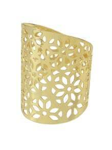 Gold Hollow Flower Ring