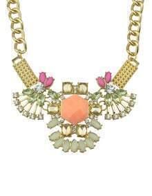 Yellow Gemstone Diamond Chain Necklace