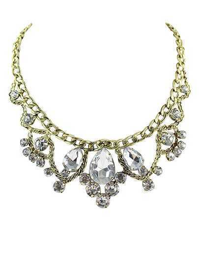 Gold Diamond Chain Necklace