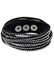 Bracelet diamant multi éléments -Noir