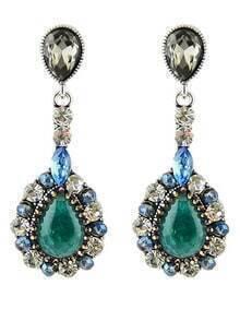 Green Drop Gemstone Earrings