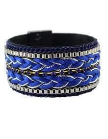 Blue Plait Link Bracelet