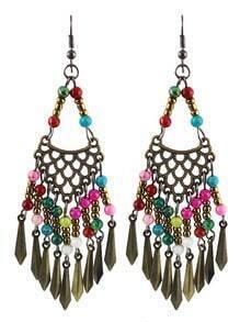 Multicolor Bead Mesh Earrings