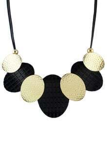 Black Round Chain Necklace