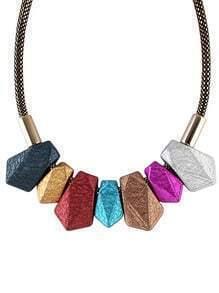 Multicolor Gemstone Tassel Necklace