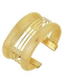 Gold Hollow Cuff Bracelet