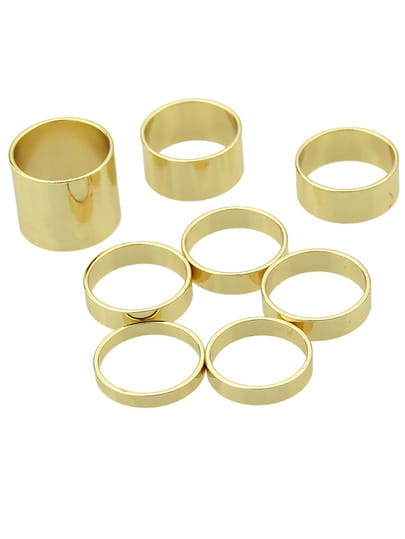Fashion Gold Multiple Rings