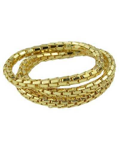 Gold Multilayers Chain Bracelet