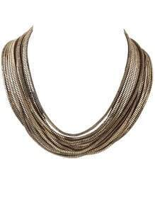 Gold Multilayer Chain Necklace