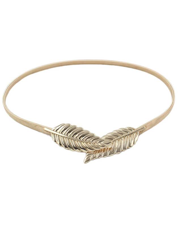 New Model Alloy Gold And Silver Plated Leaf Shaped Fashion BeltNew Model Alloy Gold And Silver Plated Leaf Shaped Fashion Belt<br><br>color: Gold<br>size: None