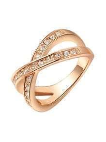 Rose Gold Crystal Ring