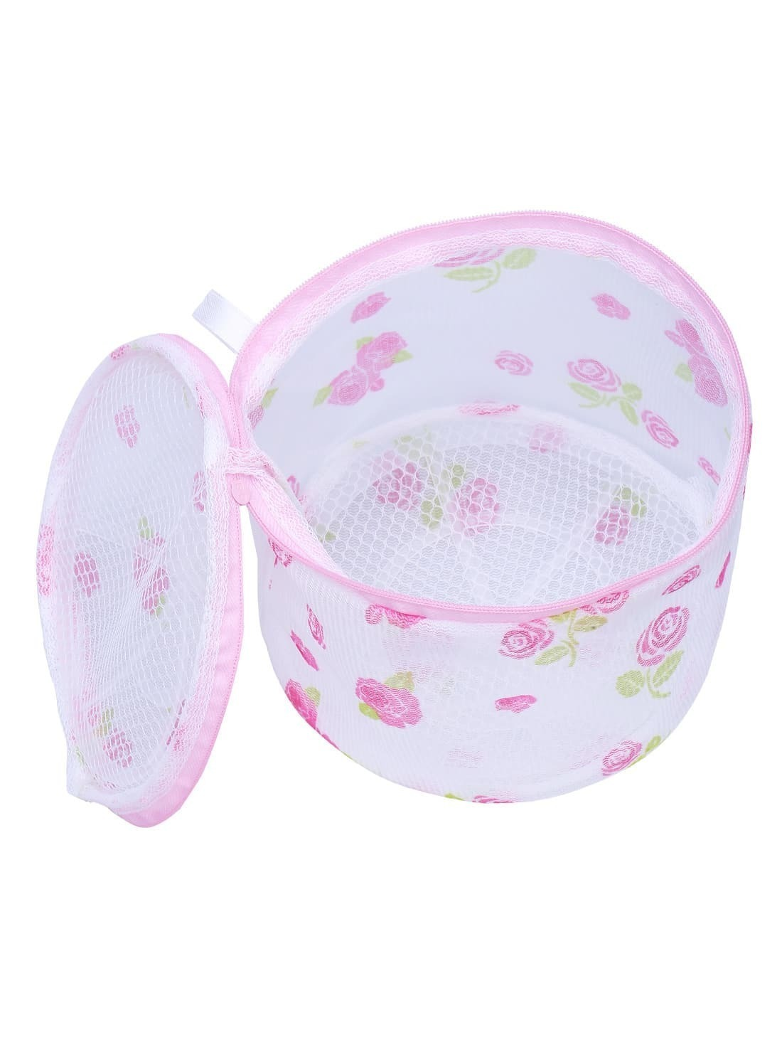 Laundry Mesh Wash Basket Net Storage Zipper Print Bag